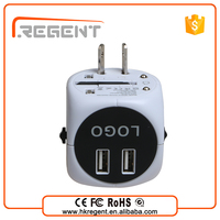 hot new design usb multi plug portable mobile phone charger with 2 port