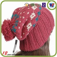 Cheap handmade crochet caps wholesale knitted winter hats for women