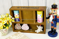 Natural Eco-friendly Storage Wooden Crates/Wooden Art Box/Antique Display Wooden Box