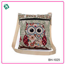 Cute animal pattern emboridery lady message bag