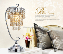 wholesale zhongshan factory hotel luxury crystal table lamp