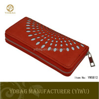Simple design leather women wallet