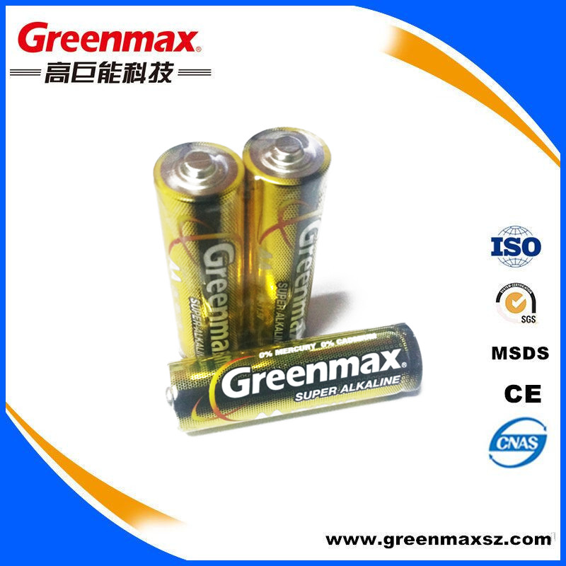 Zn/MNo2 350mins AA LR6 Alkaline Battery