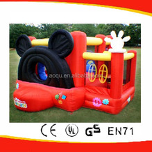 Inflatable mickey bouncer castle/mickey minnie mouse house