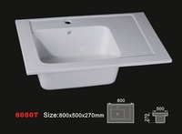 6080T bathroom sink ceramic basin
