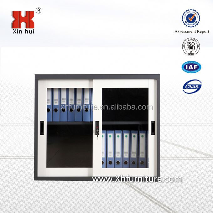 mini metal file cabinet with glass sliding door