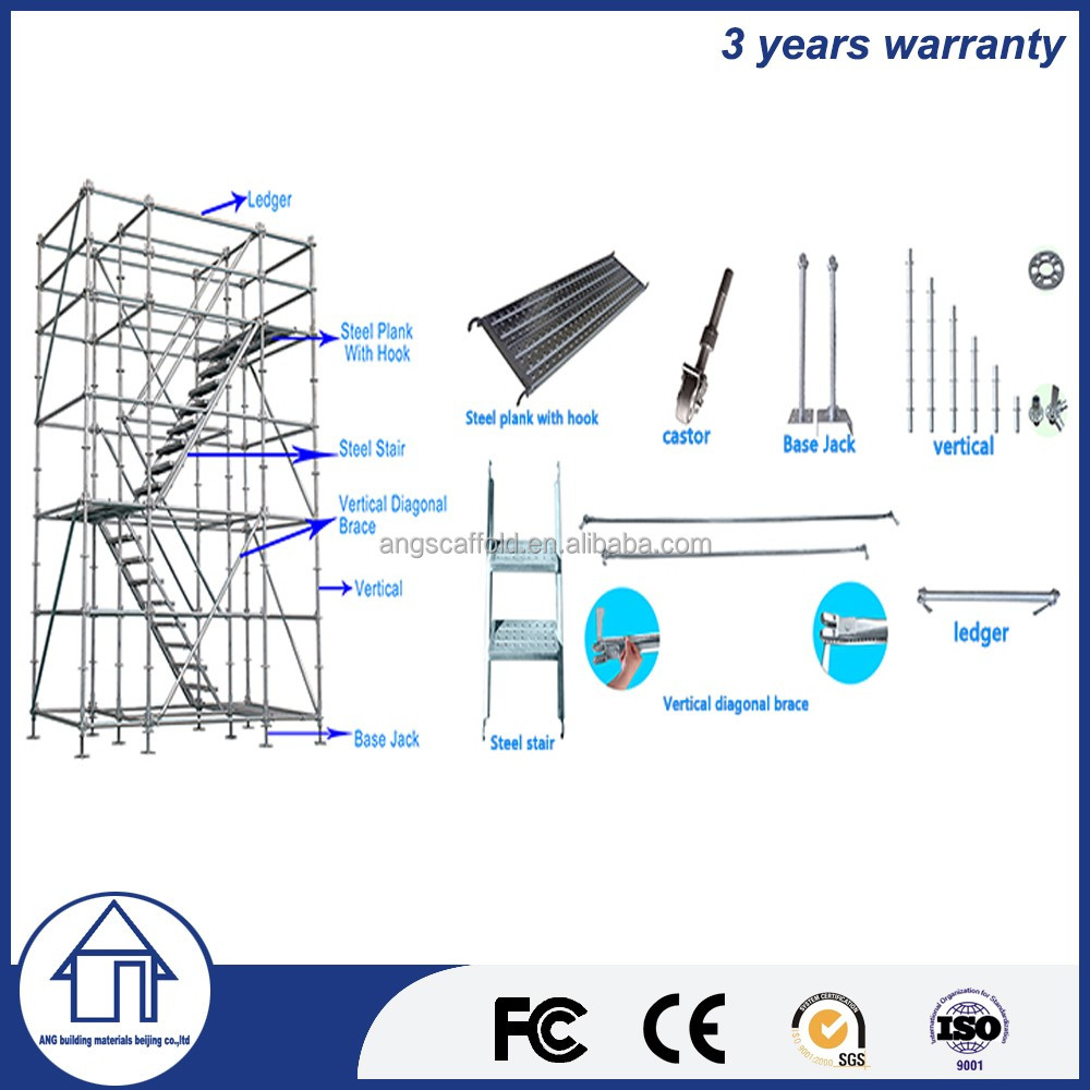 High Stability 20m Scaffold Tower For High Rise Building