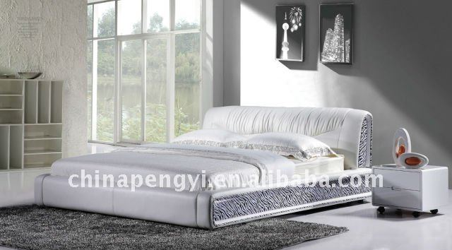hot sale latest soft faux bed white leather YU-052