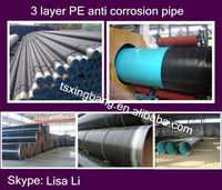 corrosion resistance and waterproof pe coating steel pipe for underground oil and gas pipeline