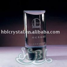 Clear crystal column with gifferent logo