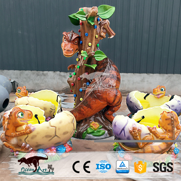 Amusement park dinosaur games for children