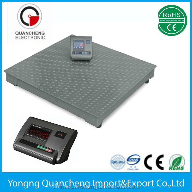 Electronic Livestock Platform Weighing Movable Floor Scale 3 tons