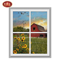Red Barn with Sunflower LED Lighted Canvas Prints for Living Room Decoration