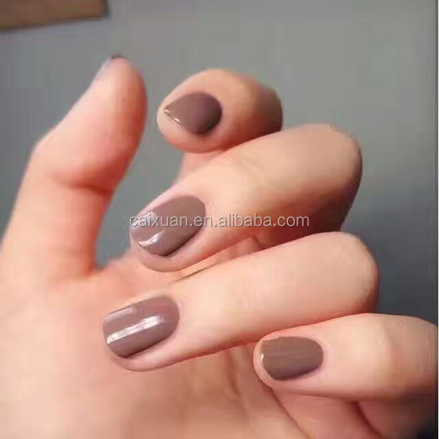 2016 hot sell factory price fall/winter gel polish Chocolate color gel polish 9 colors