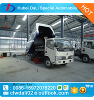 Dongfeng 4x2 5CBM small vacuum road sweeper truck