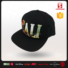 fashion simple cotton 3D embroidery cap snapback for adult and kids