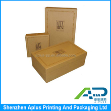 Quality two parts corrugated gift box, top and bottom packaging box, corrugated packaging box with customer design printing