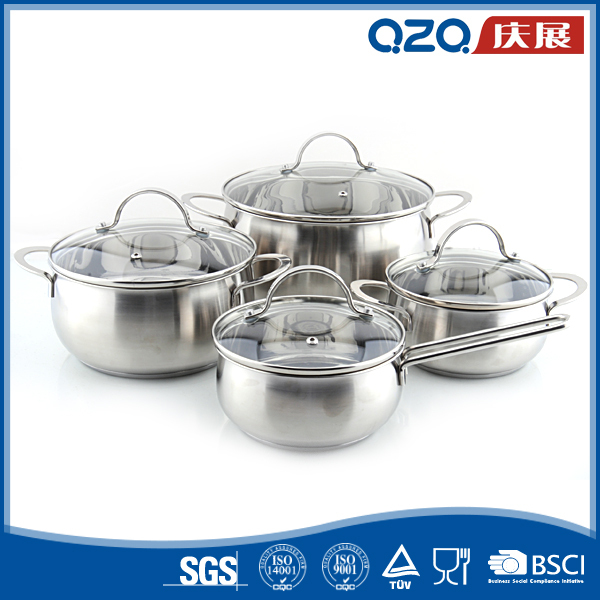 China kitchenware sets bakelite handle stainless steel casserole cookware distributors