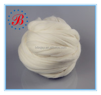 70s 100% Merino Wool Top Roving Raw white Super Chunky Yarn