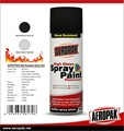 High heat aerosol paint with high temperatures painting