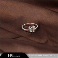 925 Sterling Silver Infinity Ring Love forever Symbol 925 silver china cz rings