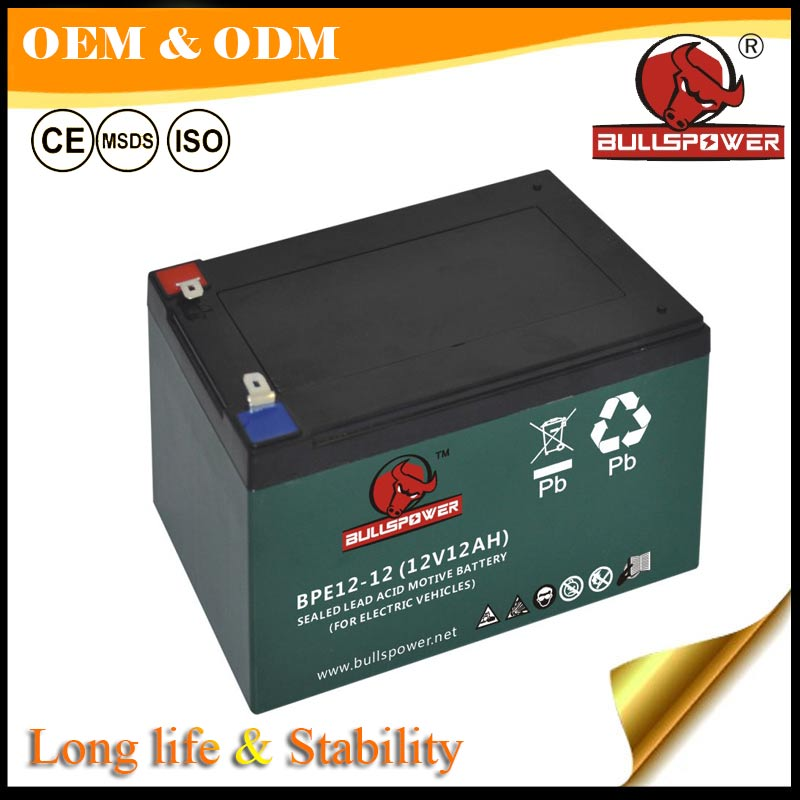 long cycle storage battery 36v 12ah lead acid battery for motor/scooter/vehicle