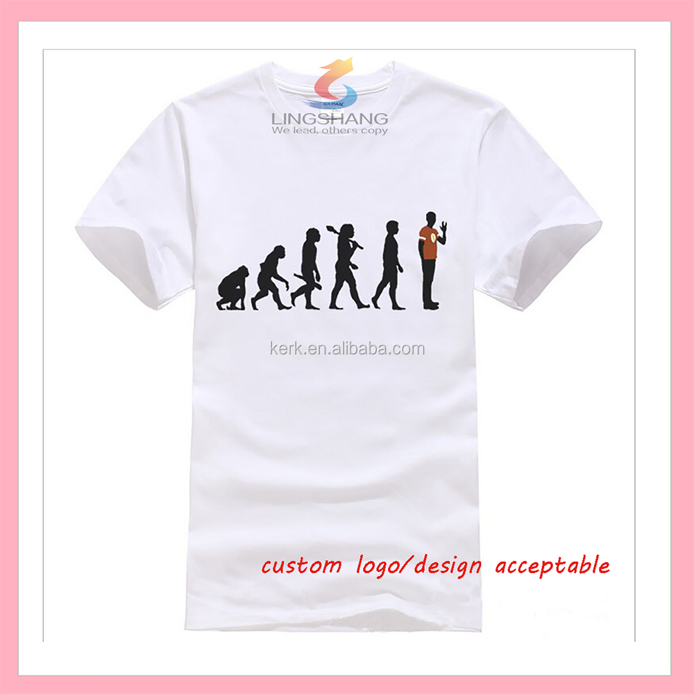 wholesale promotional customized t shirt cotton logo t