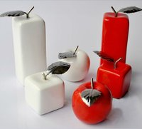 resin crafts modern home decoration wedding gifts plated apple figurines