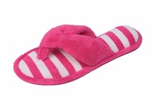 Womens Embroidered Plush Terry Cotton SPA Thong Sandal Slipper