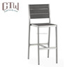 Bar furniture aluminum Outdoor bistro high bar chair set