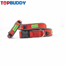 Best selling products pets accessories premium nylon custom dog padded collar