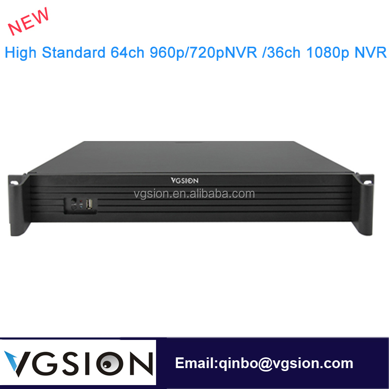 Standalone 64ch NVR Support 36 Channel 1080p IP Cameras 3G WIFI Connect ONVIF 2.4 P2P Function 9 SATA HDD Ports Each Max 4TB