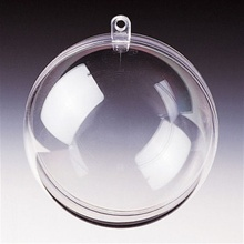 Round Fillable Baubles 8cm DIY Clear Transparent Hanging Ball Christmas Craft Xmas Plastic Decoration