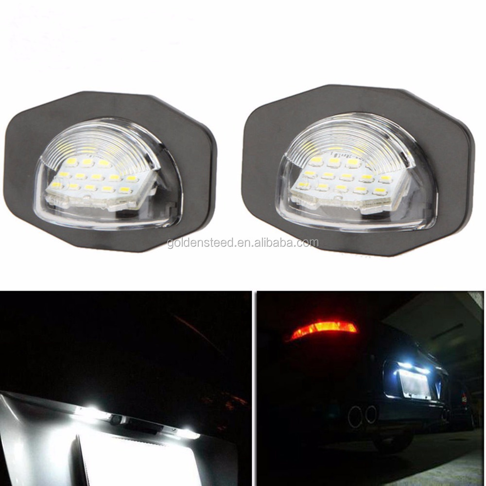 2piece LED License Plate Light Lamp for Toyota Corolla Alphard Auris Scion