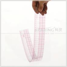 Fashion Design Grading Ruler 60 cm & 24 '' Sandwich Line Scales Durable Plastic Pattern Grading Ruler