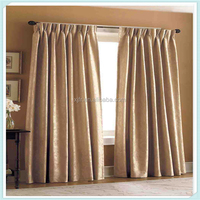 Permanent Fire Retardant Curtain Fabric Linen Polyester Fabric Bedroom Blind Curtain