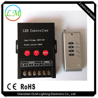 rf rgb led controller with 4 keys remote control within 50M