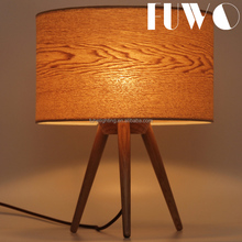 Nordic modern wooden lampshade home decoration bedroom study room lighting fixture bedside reading vintage wood table lamp