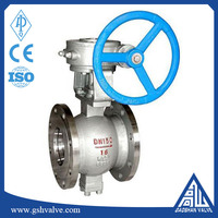 Industry carbon steel eccentric semi ball valve for water pipe