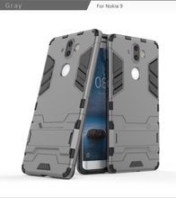 Popular Item tpu pc kickstand mobile phone back cover case for nokia 9