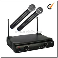 Professional FM UHF Fixed Dual Channel Wireless Microphone (AL-SE2019)