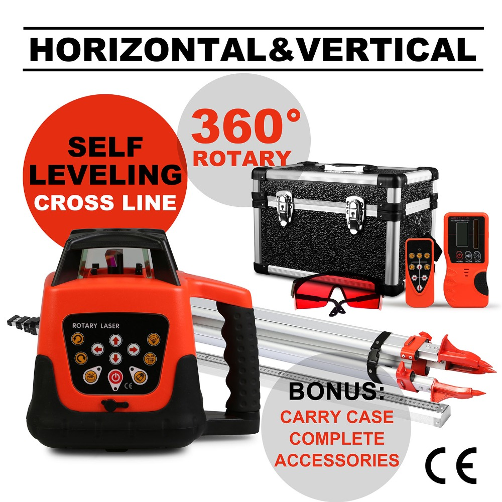 New Self Leveling Red Beam Rotary Rotating Laser <strong>Level</strong> with Tripod & 5m Staff,rotary laser <strong>level</strong>