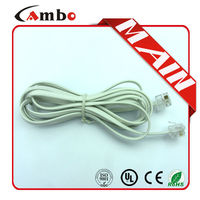 High quality copper conductor rj11 patch cord telephone jumper cable
