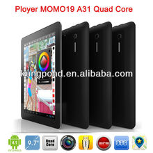 9.7 inch Retina AllWinner A31 Quad Core Android 4.1 tablet 2G/16G Dual Camera