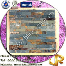 Real Stacked Stone Panel Natural Slate Brown Color