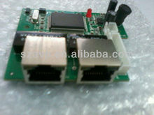 2 RJ45 ports and 8 pin header port Ethernet switch module