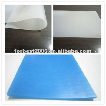 Blue Silicone rubber sheet 3mm thickness