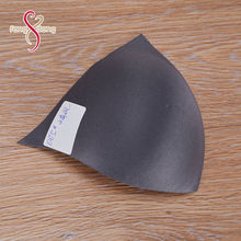 Customize different size underwear accessory molded bra cup, triangle padded foam bra cups for dresses