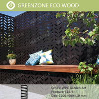 Greenzone embossed plate wood plastic decorative pvc fence