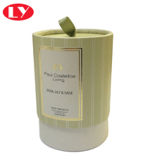 Light Green Cardboard Cylinder Packaging Box for Candle